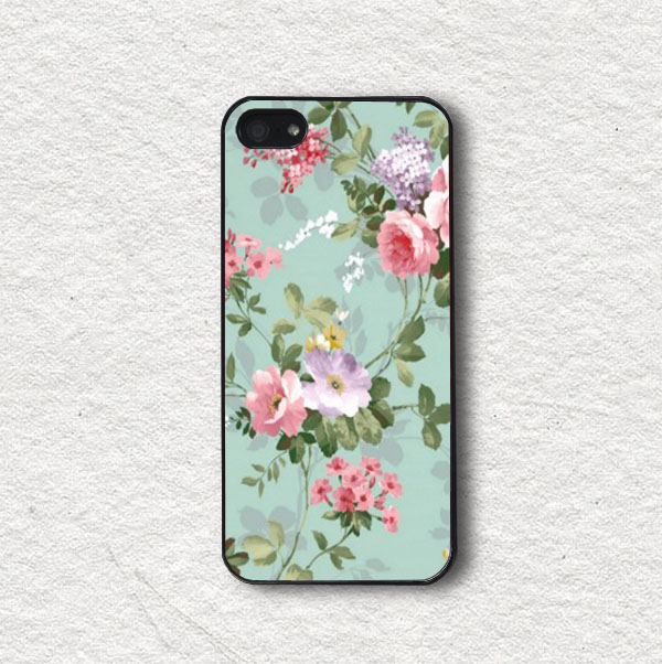 new product b0b41 fa595 Cell Phone Case Cover For Iphone 4, Iphone 4s, Iphone 5, Iphone 5s, Iphone  Cover, Protecive Iphone Case - Vintage Pastel Flowers